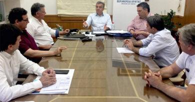 Συνάντηση στην Περιφέρεια για τα αναγκαία έργα στην περιοχή του νέου αεροδρομίου