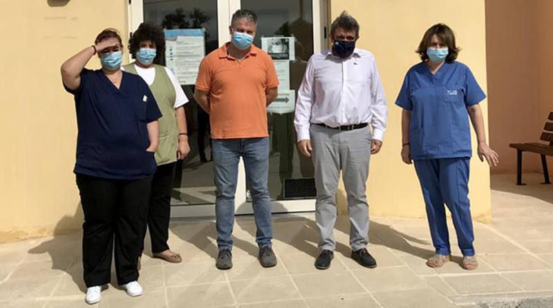 Ο Νίκος Ηγουμενίδης στο Πολυδύναμο Περιφερειακό Ιατρείο Τυμπακίου