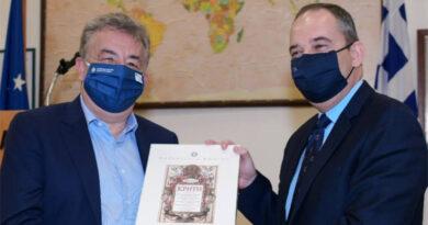Ο Γιάννης Πλακιωτάκης με τον Σταύρο Αρναουτάκη