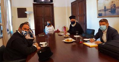 Συνάντηση της Μαρίας Κοζυράκη με το Σεβασμιότατο Μητροπολίτη Αρκαλοχωρίου, Καστελλίου και Βιάννου