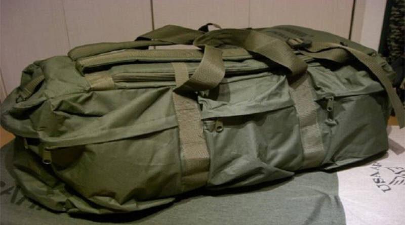 Σάκοι με στρατιωτικό υλικό