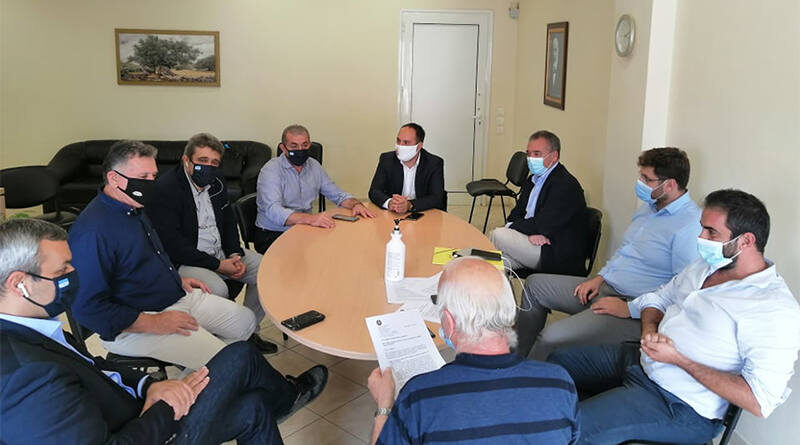 Συνάντηση Δημάρχου Μινώα Πεδιάδας με τον τομεάρχη Εσωτερικών ΣΥΡΙΖΑ