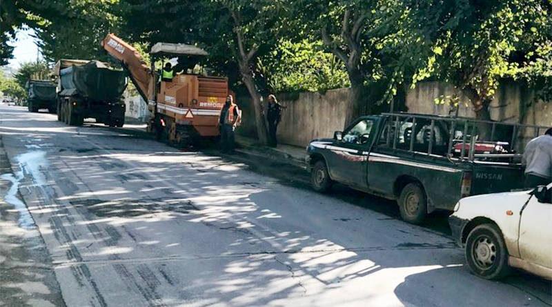 ανακατασκευή του ασφαλτοτάπητα στην Παπαναστασίου