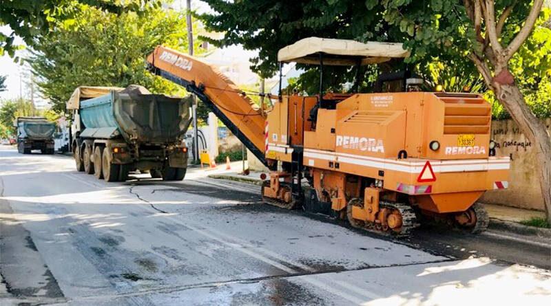 Δ. Χανίων: Ξεκίνησε η ανακατασκευή του ασφαλτοτάπητα στην Παπαναστασίου